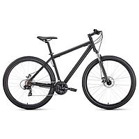 """Велосипед 29"""" Forward Sporting 2.1 disc, цвет черный матовый/черный, размер 21"""""""