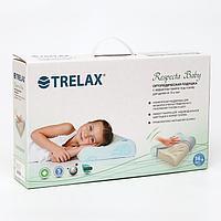 Подушка ортопедическая TRELAX RESPECTA BABY с эффектом памяти под голову, для детей от 3-х лет, 27х44х8