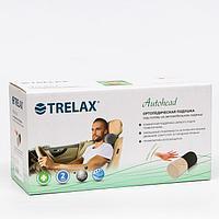 Подушка ортопедическая TRELAX под голову на автомобильное сидение, П16 AUTOHEAD (12х27 см, черный) 6