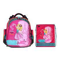 Рюкзак каркасный, Hummingbird TK, 37 х 32 х 18 см, с мешком для обуви, «Баллет»