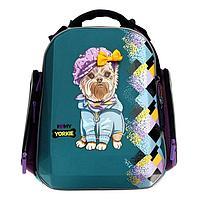Рюкзак каркасный, Hummingbird TK, 37 х 26 х 18 см, 3D нашивка, «Собака»