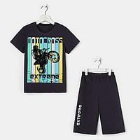 Комплект для мальчика, цвет чёрный, рост 128 см