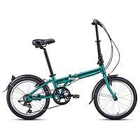 """Велосипед 20"""" Forward Enigma 2.0, 2021, цвет зеленый/коричневый, размер 11"""""""