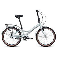 "Велосипед 24"" Forward Enigma 3.0, 2021, серебристый/белый, размер 14"""