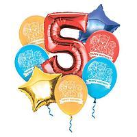 """Воздушные шары, набор """"С Днем Рождения 5 лет"""""""