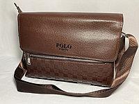 """Мужская сумка-мессенджер """"POLO"""" через плечо. Высота 24 см, ширина 34 см, глубина 6 см."""