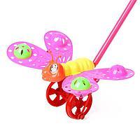 Каталка на палочке «Бабочка», цвета МИКС