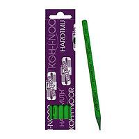 Карандаш цветной цельнографитовый Koh-I-Noor 8750/004 Progresso, в лаке зеленый (комплект из 7 шт.)