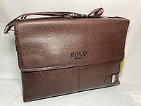 """Мужская сумка мессенджер через плечо"""" POLO"""". Высота 24 см, ширина 34 см, глубина 6 см."""
