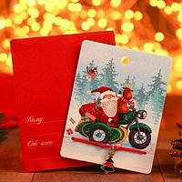 Браслет 'Новогодний' подарки, ёлка, цвет красный