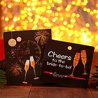 Браслет 'Новогодний' бокалы с шампанским, love, цвет красный