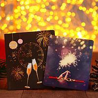 Браслет 'Новогодний' бенгальский огонь, бесконечность, цвет красный