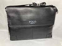 "Мужская сумка-мессенджер через плечо""POLO"". Высота 24 см, ширина 34 см, глубина 6 см., фото 1"