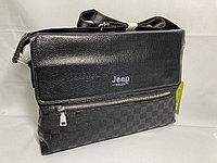 """Мужская сумка мессенджер через плечо""""JEEP"""". Высота 24 см, ширина 34 см, глубина 6 см."""