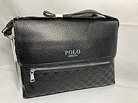 """Мужская сумка мессенджер""""POLO"""" через плечо. Высота 24 см, ширина 34 см, глубина 6 см."""