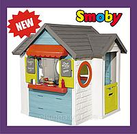 Домик детский для улицы 3 в 1: садовый домик, ресторан и магазин Smoby, Франция