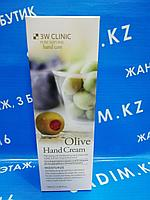 3W Clinic Olive Hand Cream 100 ml - Крем для рук с экстрактом оливы
