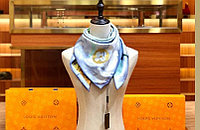 Шелковый платок ручной работы