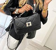 Женская итальянская мягкая сумка с длинной ручкой
