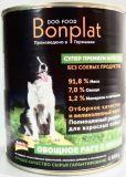 BONPLAT 800кг кусочки мяса и отборных овощей Влажный корм для взрослых собак всех пород