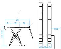 ПОДЪЕМНИК N634-4 ножничный для сход-развала, напольный 4 т, 380 В NORDBERG N634-4