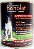 BONPLAT 400кг мясное ассорти Влажный корм для взрослых собак всех пород