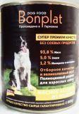 BONPLAT 800кг индейка с рисом Влажный корм для взрослых собак всех пород