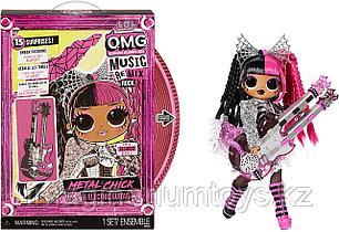 Большая Кукла LOL OMG Remix Rock Metal Chick ЛОЛ ОМГ Леди-Металл