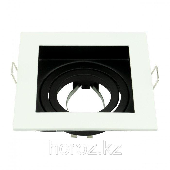Точечный светильник квадратный со сменной лампой