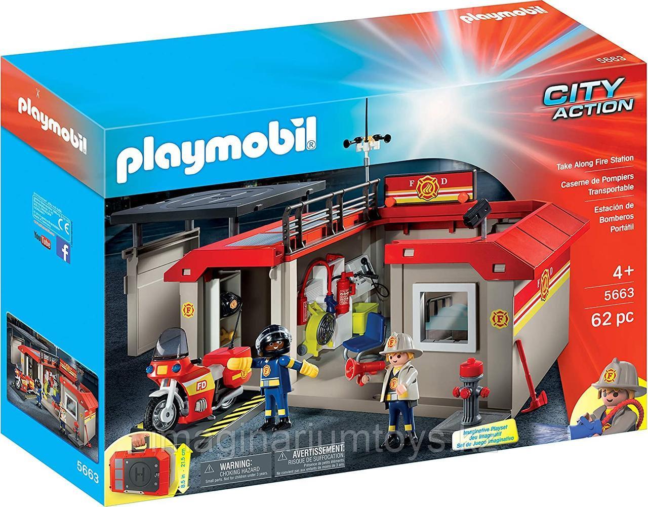 Конструктор Playmobil «Пожарная служба - Пожарная станция»