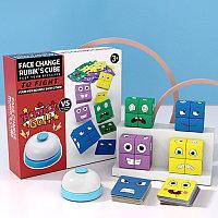 """Настольная увлекательная и обучающая игра """"Собери кубики эмоции со звонком"""" выложи по образцу быстрее всех!"""