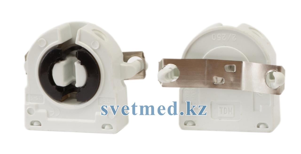 Патрон торцевой поворотный с пружиной на защёлке для ламп G13