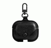 Чехол для Apple AirPods Pro (экокожа черный)