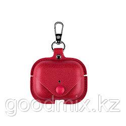 Чехол для Apple AirPods Pro (экокожа красный)