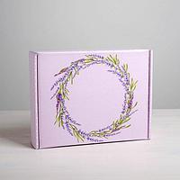 Складная коробка «Лаванда», 27 × 21 × 9 см