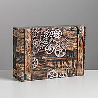 Коробка складная «Шестерёнки», 21 × 15 × 7 см