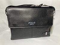 "Мужская сумка-мессенджер через плечо ""POLO"". Высота 24 см, ширина 34 см, глубина 6 см., фото 1"