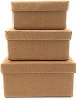 Набор коробок картонных (матрешка) 19x19x9,5,17x17x8,15x15x7