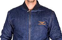 """Джинсовая куртка-бомбер """"Montana"""" Pilot (размер 4ХL / 56)"""