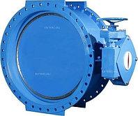 Затвор дисковый поворотный Benarmo 107-5951, PN 1 МПа, ДУ 600, с двойным эксцентриситетом, фланцевый чугунный,
