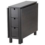 NORDEN НОРДЕН Стол складной, коричнево-чёрный, 26/87/148x80 см
