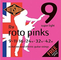 Струны для электрогитары Rotosound Roto Pinks R9