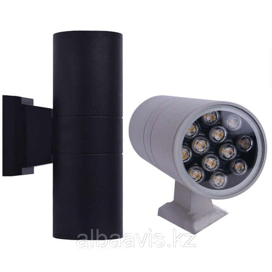 Светильники настенные архитектурные, tubus led, прожекторы типа up - down, фасадные светильники 24 ватт