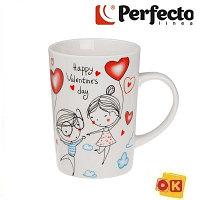 Кружка керамическая 320 мл, Влюбленные сердца 2-2, PERFECTO LINEA