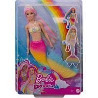Кукла Барби русалочка меняющая цвет, с разноцветными волосами, МИКС