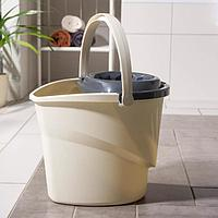 Ведро для мытья пола АКОР EXTRA-Shine 5000, 12 л, с корзиной для отжима швабры