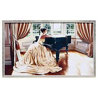 Картина 'Девушка и рояль' 66х106см рамка микс