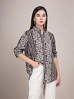Хлопковая женская рубашка с рисунком розочек