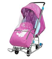 Санки-коляска Nika - Disney Baby 1 Мари орхидея