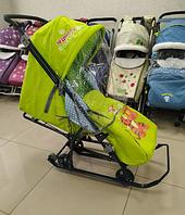 Санки-коляска Nika - Disney Baby 1 Тигруля лимонный